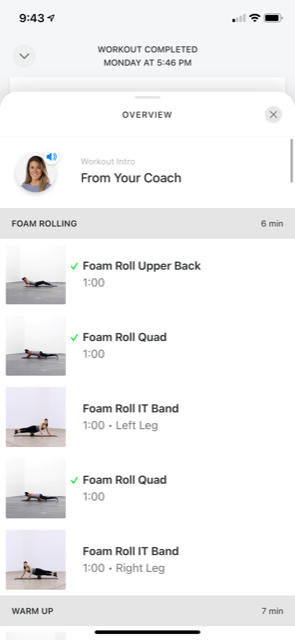 Image of the workouts in Future.