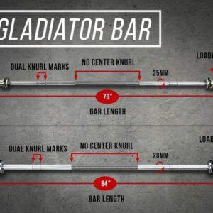 Rep Gladator Olympic Bearing Bar