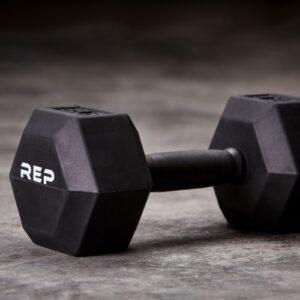 Rep Rubber Grip Hex Dumbbells