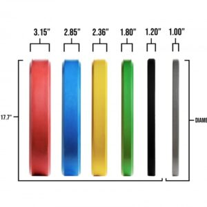 Rep Color Bumper Plates