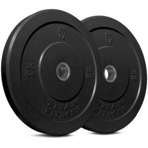 Titan Fitness Economy Black Bumper Plates
