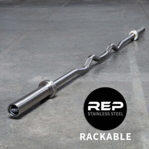 Rep Rackable EZ Curl Barbell