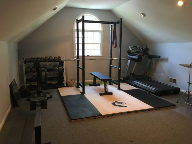 DIY Weightlifting Platform with Squat Stand Attached