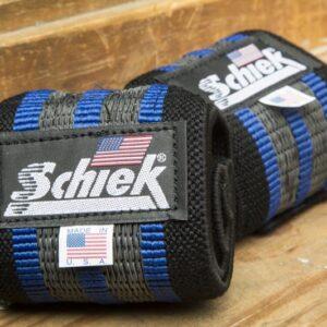 Schiek Blue Line Wrist Wraps