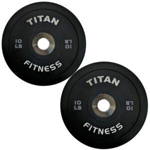 Titan Black Elite LB Bumper Plates