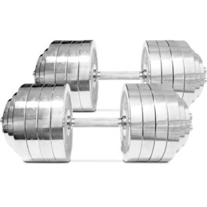 Titan Adjustable Chrome Dumbbells