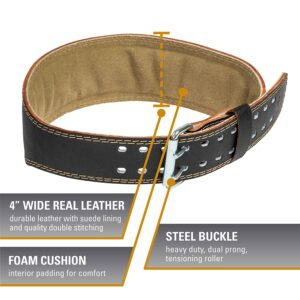 Harbinger Padded Leather Weightlifting Belt