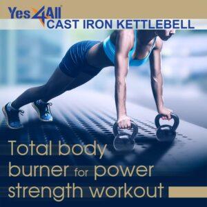 Yes4All Cast Iron Kettlebells