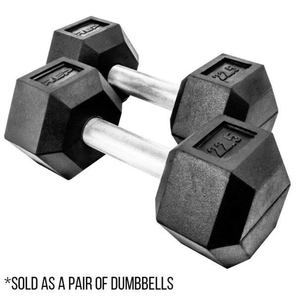 Rep Rubber Coated Hex Dumbbells
