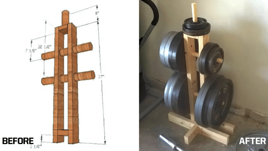 DIY Weight Plate Tree for Under $20