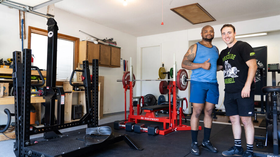 SWAT Officers Epic Powerlifting Garage Gym