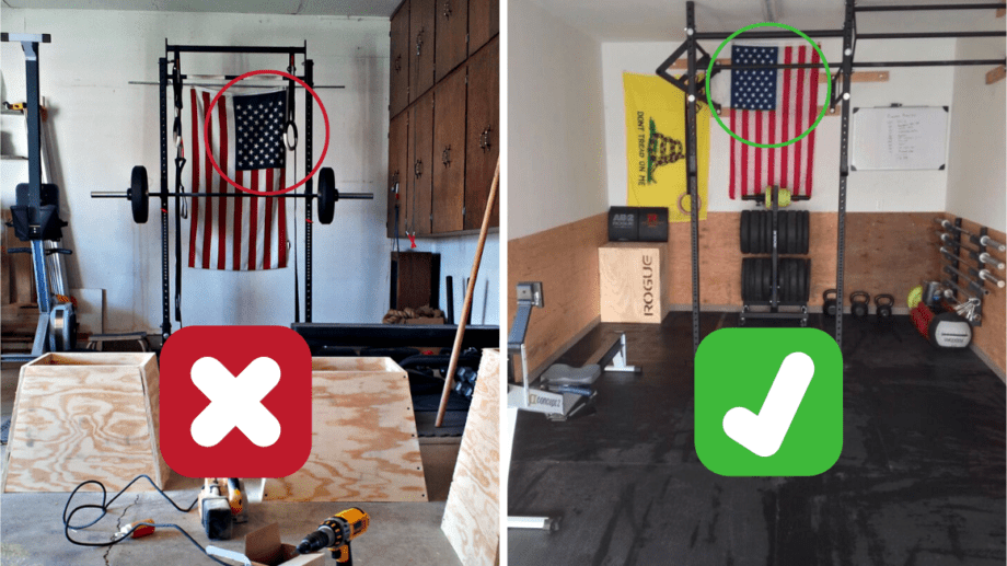 Proper Hanging of the American Flag in A Gym