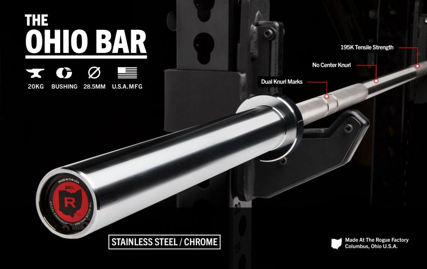 First Look: Rogue Fitness Stainless Steel Ohio Bar