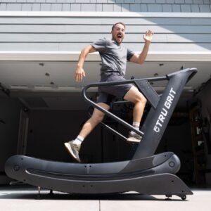 Coop running on the Tru Grit treadmill.