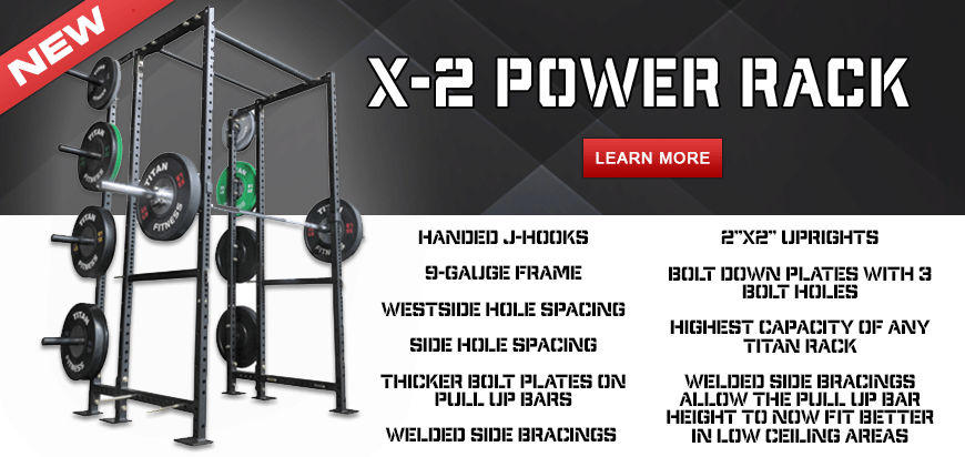 Titan Fitness Releases 9-Gauge X-2 Power Rack