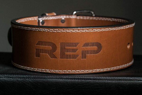Rep 4-Inch Premium Leather Lifting Belt