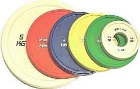 Vulcan V-Lock Olympic Weightlifting Rubber Discs