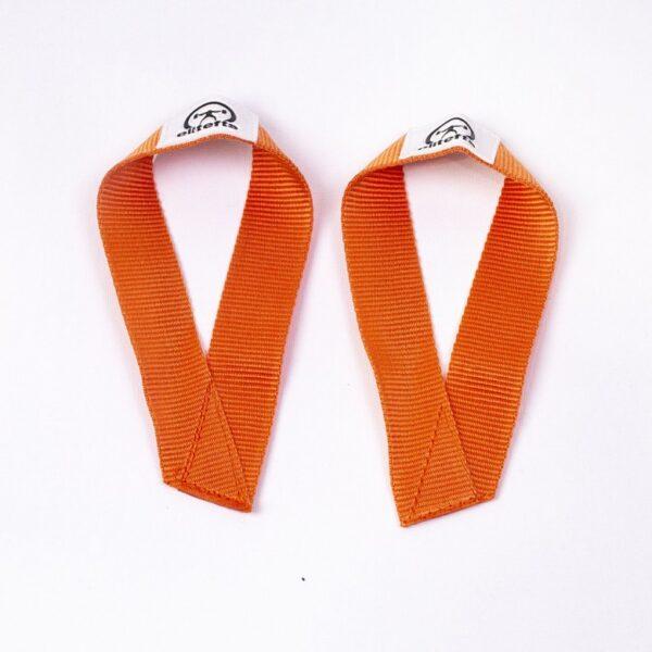 EliteFTS Old School Orange Wrist Straps