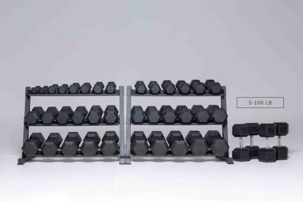 REP Fitness Rubber Hex Dumbbell Sets