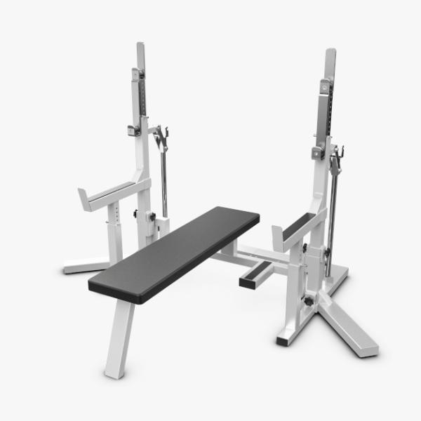 Eleiko Powerlifting Squat Stand/Bench Combo Rack