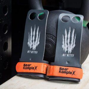 Bear Komplex 2 Hole Hand Grips - Carbon Fiber