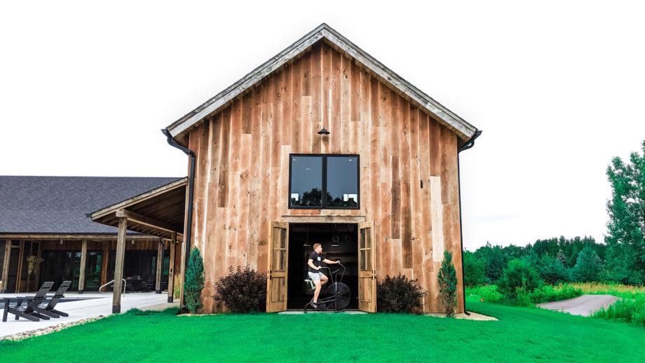 Ralph's Insane Modern Barn Home Gym