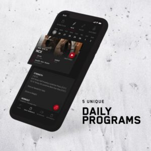 NCFIT app image showing daily programming