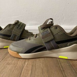 Reebok Lifter PR 2 weightlifting shoes in army green