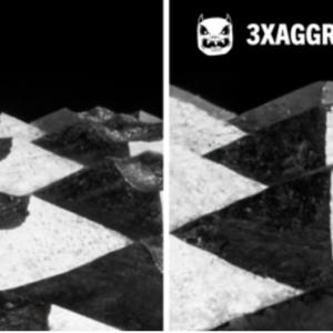 Image comparing 2x vs 3x aggro knurling