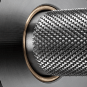 Image showing closeup of the knurling on the Rogue Aggro Bar