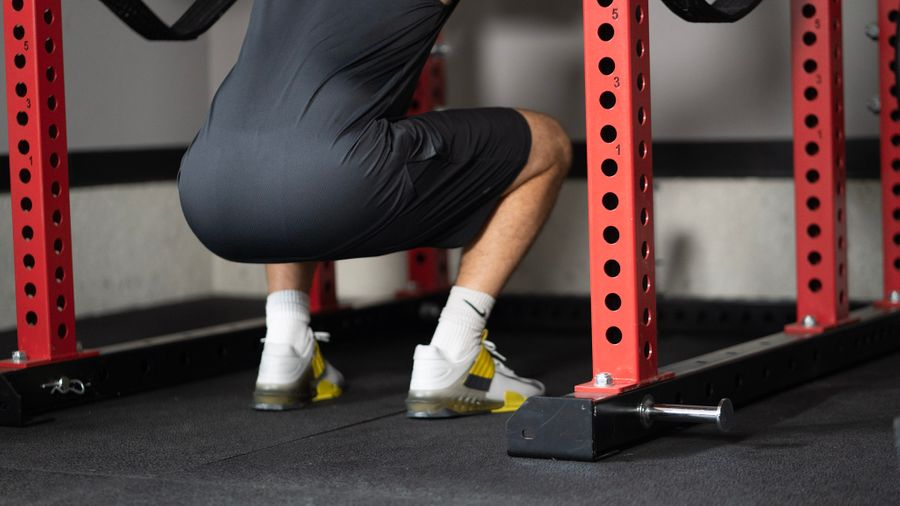 Squatting in Nike Savaleos weightlifting shoes