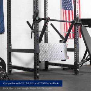 The Titan Stealth Leg Press attached to a rig