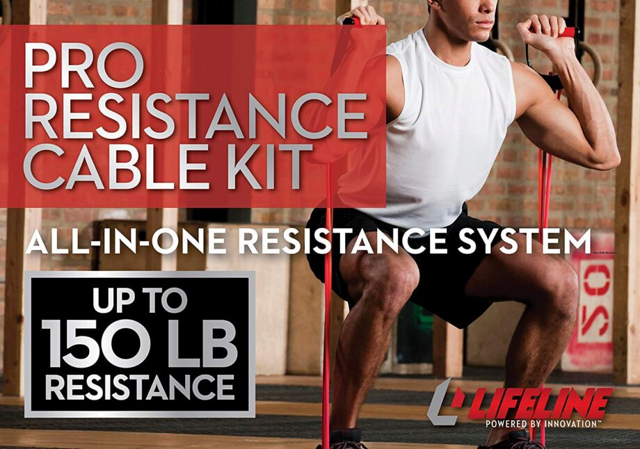 """Bands Set for Exercise 10-100 lbs Lifeline Fitness 30/"""" Resistance Cables New"""