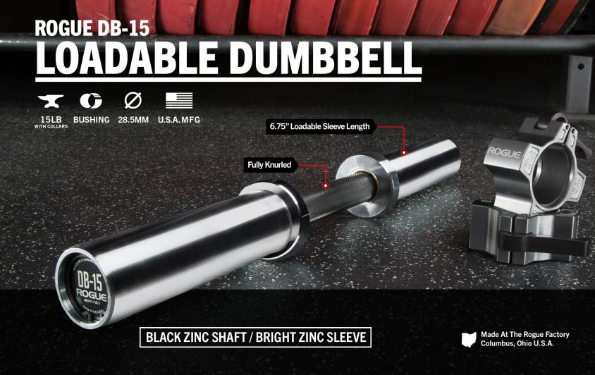 First Look: Rogue Fitness Loadable Dumbbell DB-15 Cover Image