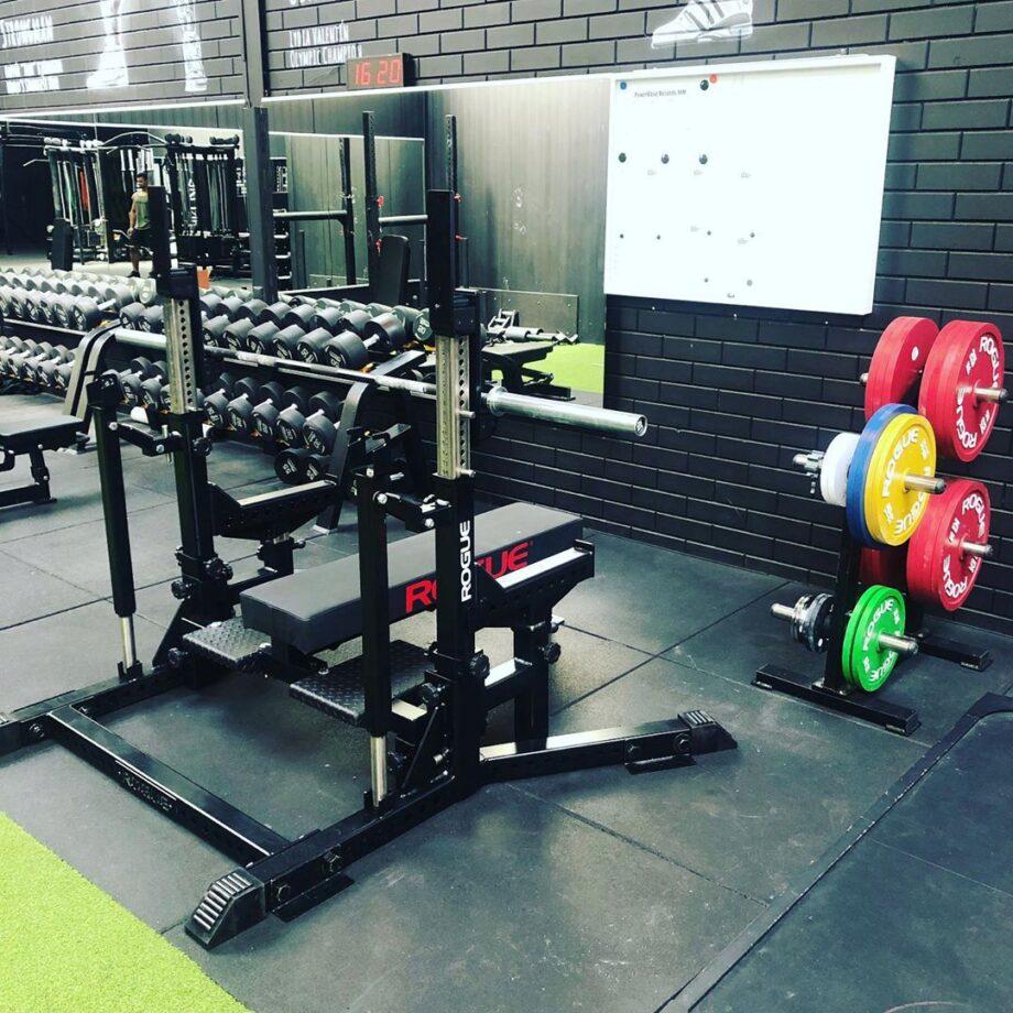 Rogue Combo Rack Garage Gym Built