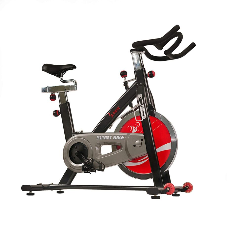 Sunny Health and Fitness SF-B1002 Belt Drive Indoor Cycling Trainer